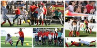 Collage de fotos animando a la selección española Mundial 2018